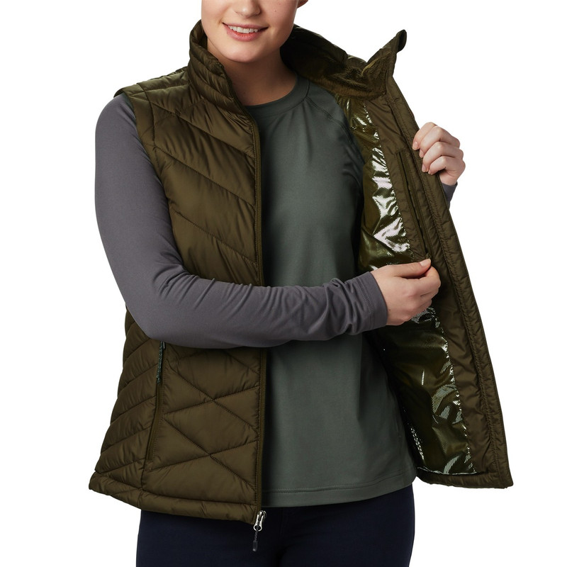 Columbia Women's Heavenly Vest in Olive Green Color