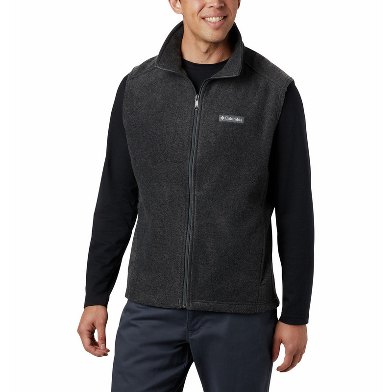 Columbia Men's Steens Mountain Fleece Vest in Charcoal Heather Color