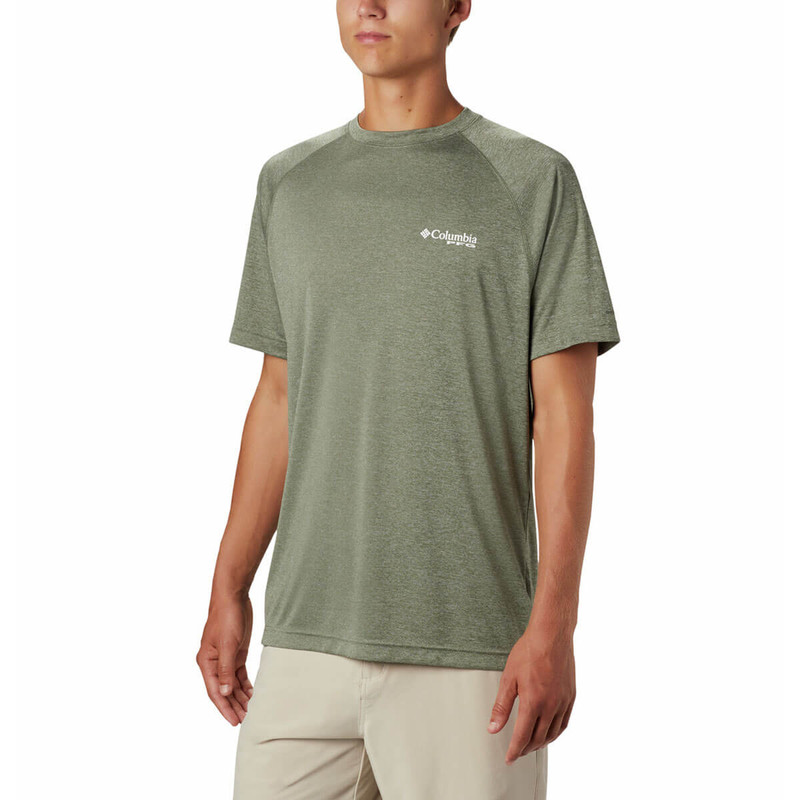 Columbia Terminal Tackle Heather Short Sleeve Shirt in Cypress Heather Color