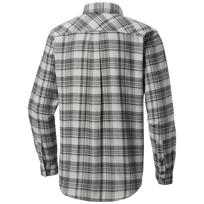 Columbia Flare Gun Flannel III Long Sleeve Shirt in Soft Metal Small Plaid Color