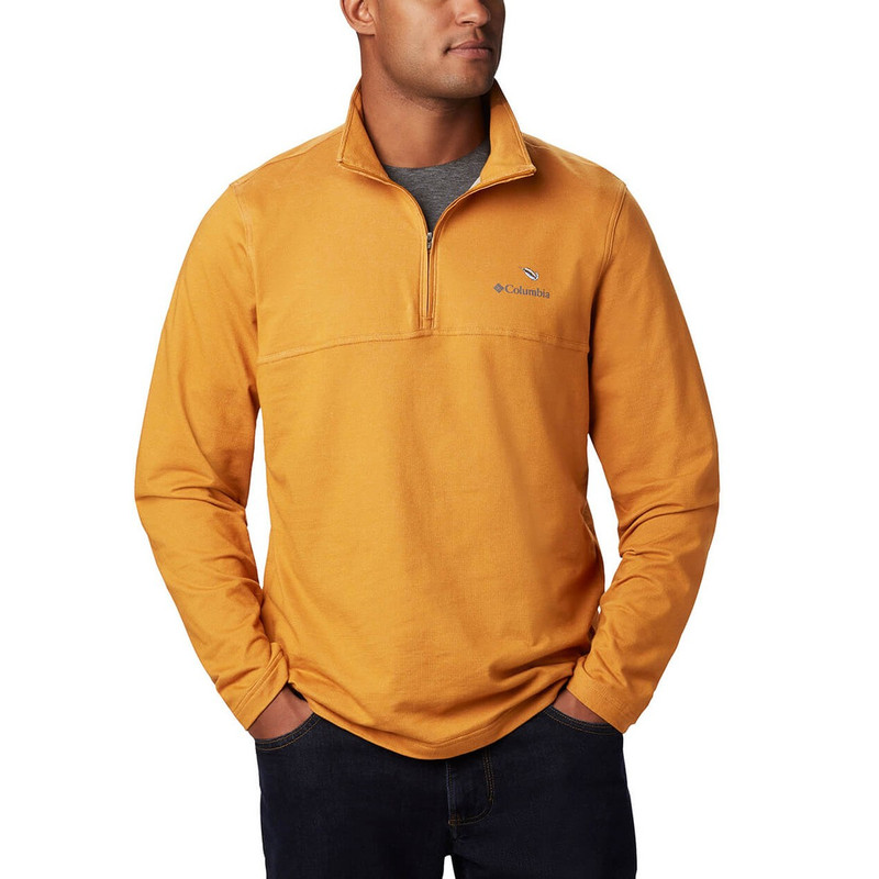 Columbia Rugged Ridge 1/4 Zip in Burnished Amber Heather Color