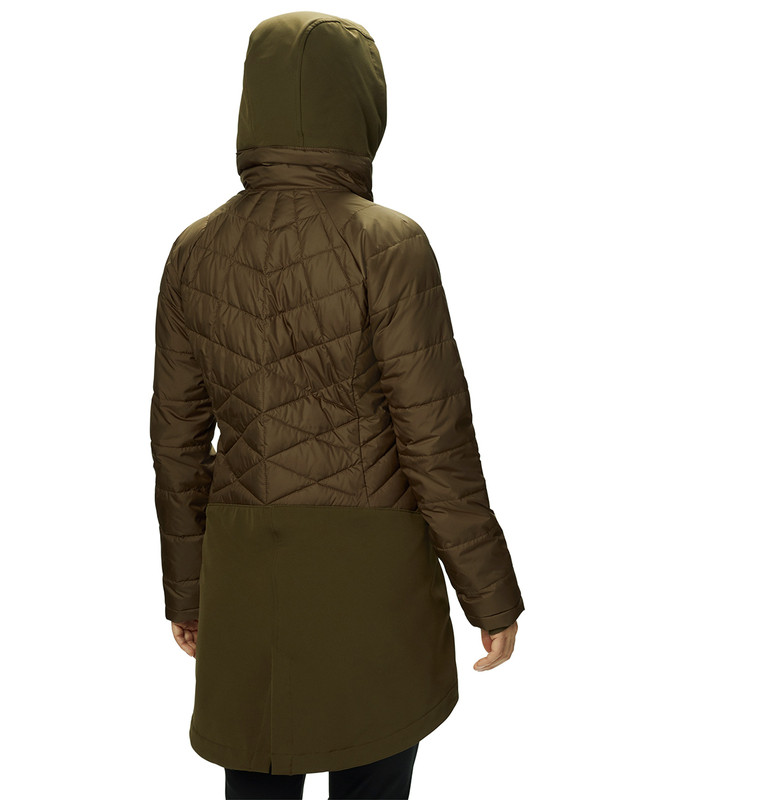 Columbia Women's Heavenly Long Hybrid Jacket in Olive Green Color