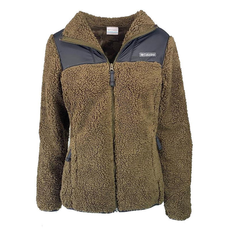 Columbia Women's Winter Pass Fleece Full Zip in Olive Green Black