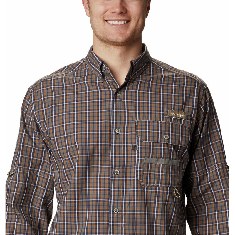 Columbia Super Sharptail Long Sleeve Shirt in Boulder Gingham Color