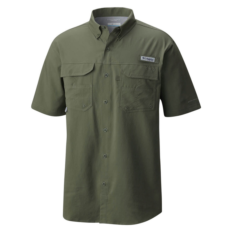 Columbia Blood and Guts III Short Sleeve Woven Shirt in Cypress Color