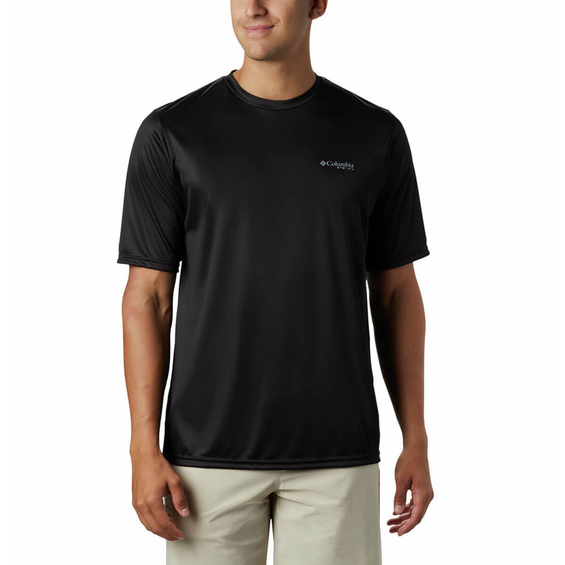 Columbia Terminal Tackle PFG Tribal Fish SS Shirt in Black Permit Color
