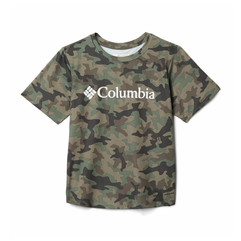 Columbia Boy's Freezer Graphic Tee in Cypress Camo Color