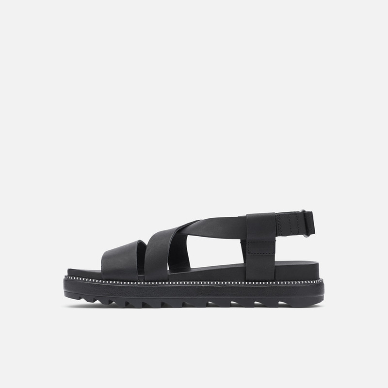 Sorel Roaming Criss-Cross Sandal in Black Color