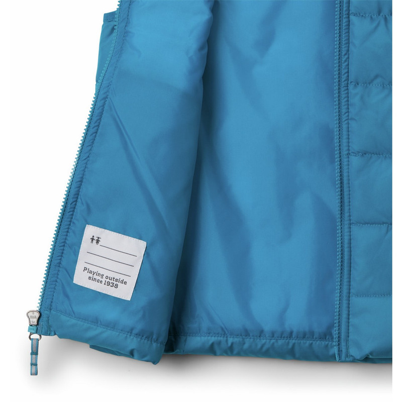 Columbia Boy's Powder Lite Puffer Vest in Fjord Blue Color