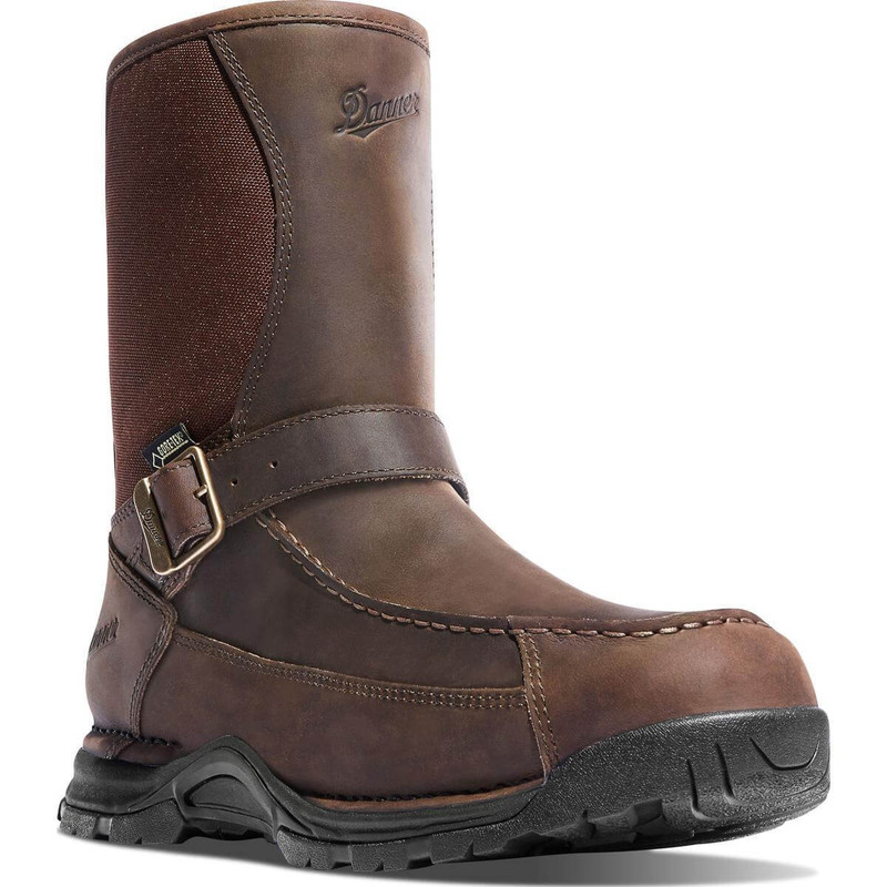 "Danner Sharptail Rear Zip Boots - 10"" Dark Brown"