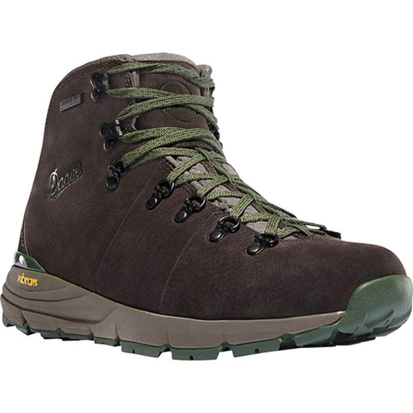 "Danner Mens Mountain 600 4.5"" Dark Brown/Green"