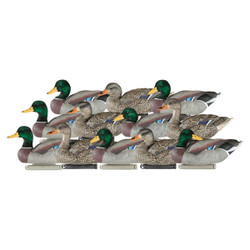 Dakota X-treme Flocked Head Mallard Duck Decoys 12 Pack