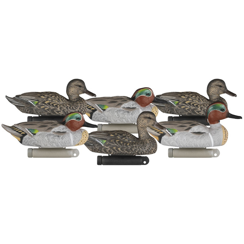 Dakota Decoys X-Treme Green Winged Teal Duck Decoys 6 Pack