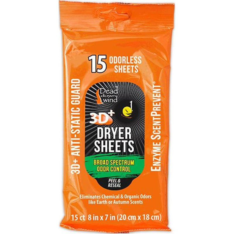 Dead Down Wind Scent Prevent Dryer Sheets