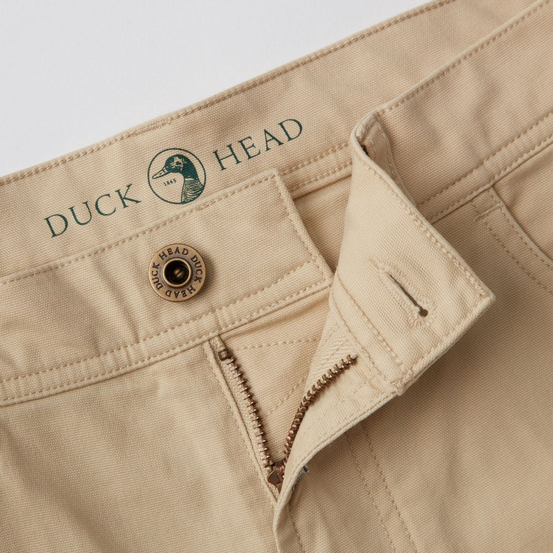 Duck Head 1865 5-Pocket Pinpoint Canvas Pants in Sand Color