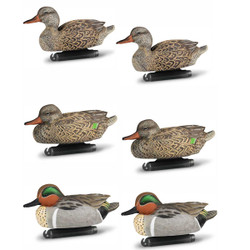 DOA Decoys Refuge Series Greenwing Teal Floater Duck Decoys - 6 Pack