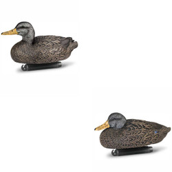 DOA Decoys Refuge Series Black Duck Floater Decoys - 6 Pack