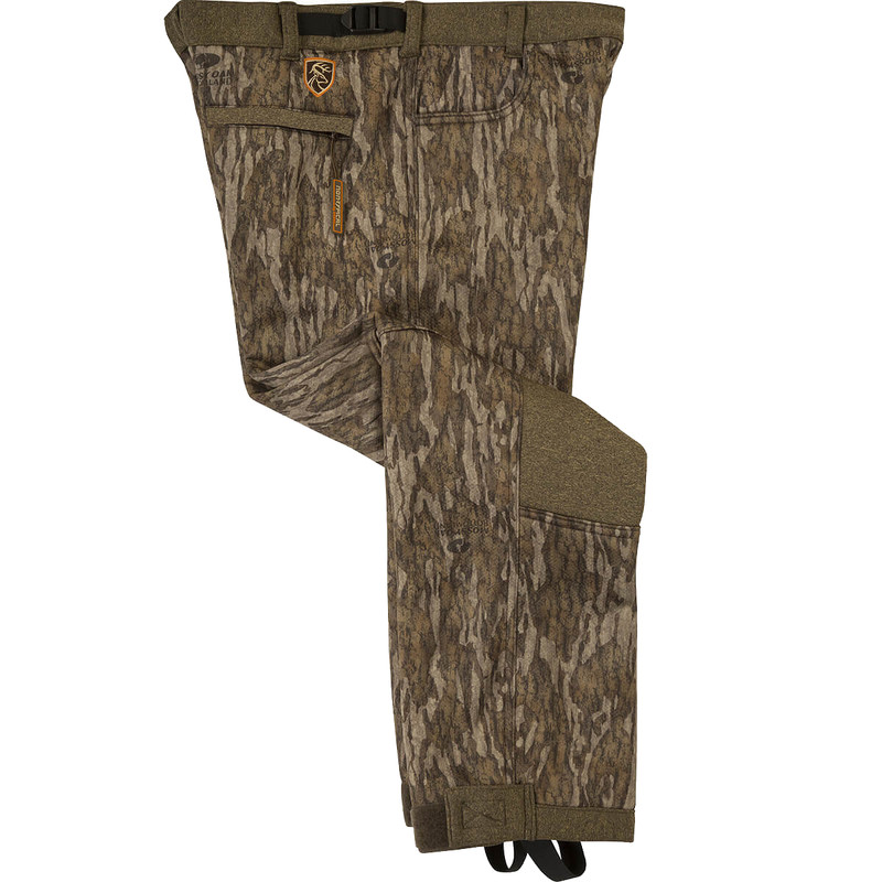 Drake Scent Control Non-Typical Silencer Soft Shell Pant With Agion Active XL in Mossy Oak Bottomland Color