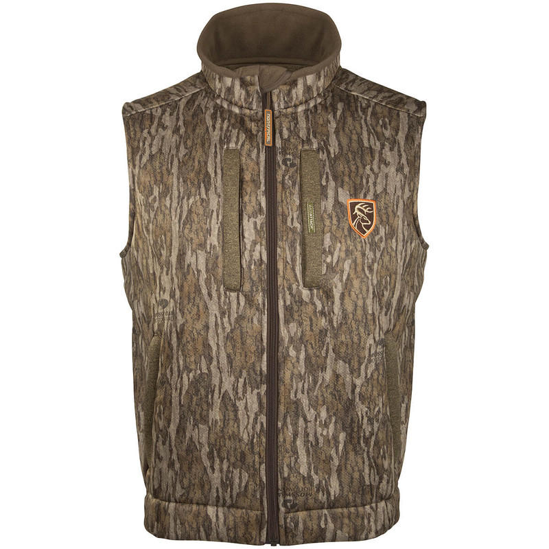Drake Scent Control Non-Typical Silencer Vest With Agion Active in Mossy Oak Bottomland Color