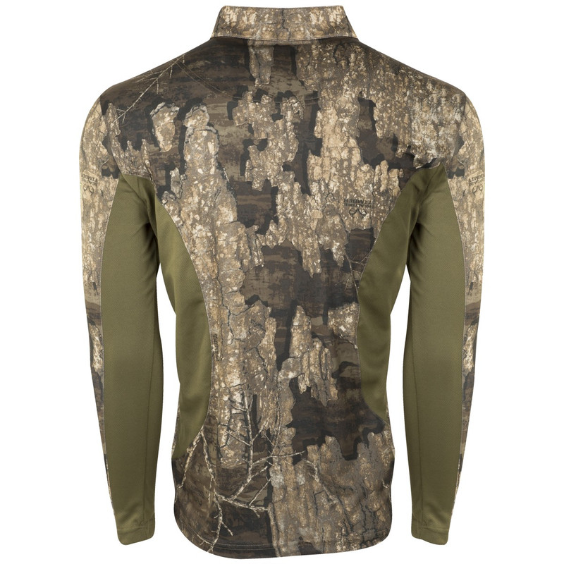 Drake Non-Typical Scent Control Performance 1/4 Zip With Agion in Realtree Timber Color
