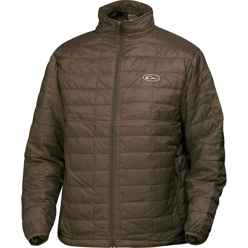 Drake Waterfowl MST Synthetic Down Pac Jacket in Brown Color
