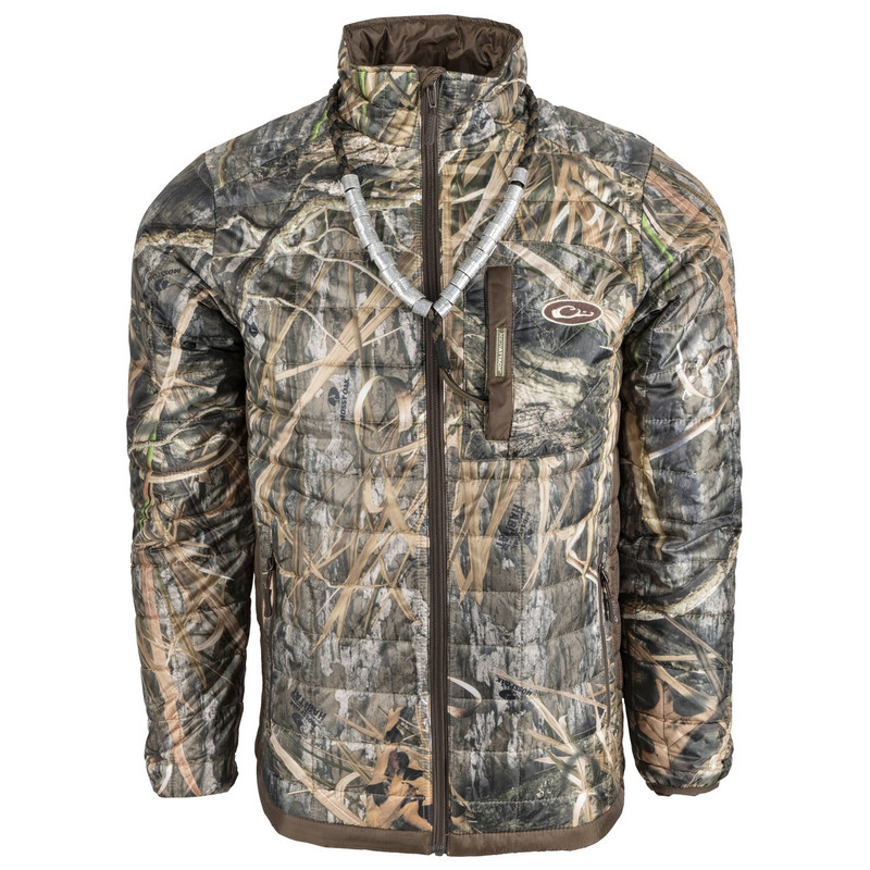 Drake MST Synthetic Down Packable 2-Tone Jacket in Mossy Oak Blades Habitat Color