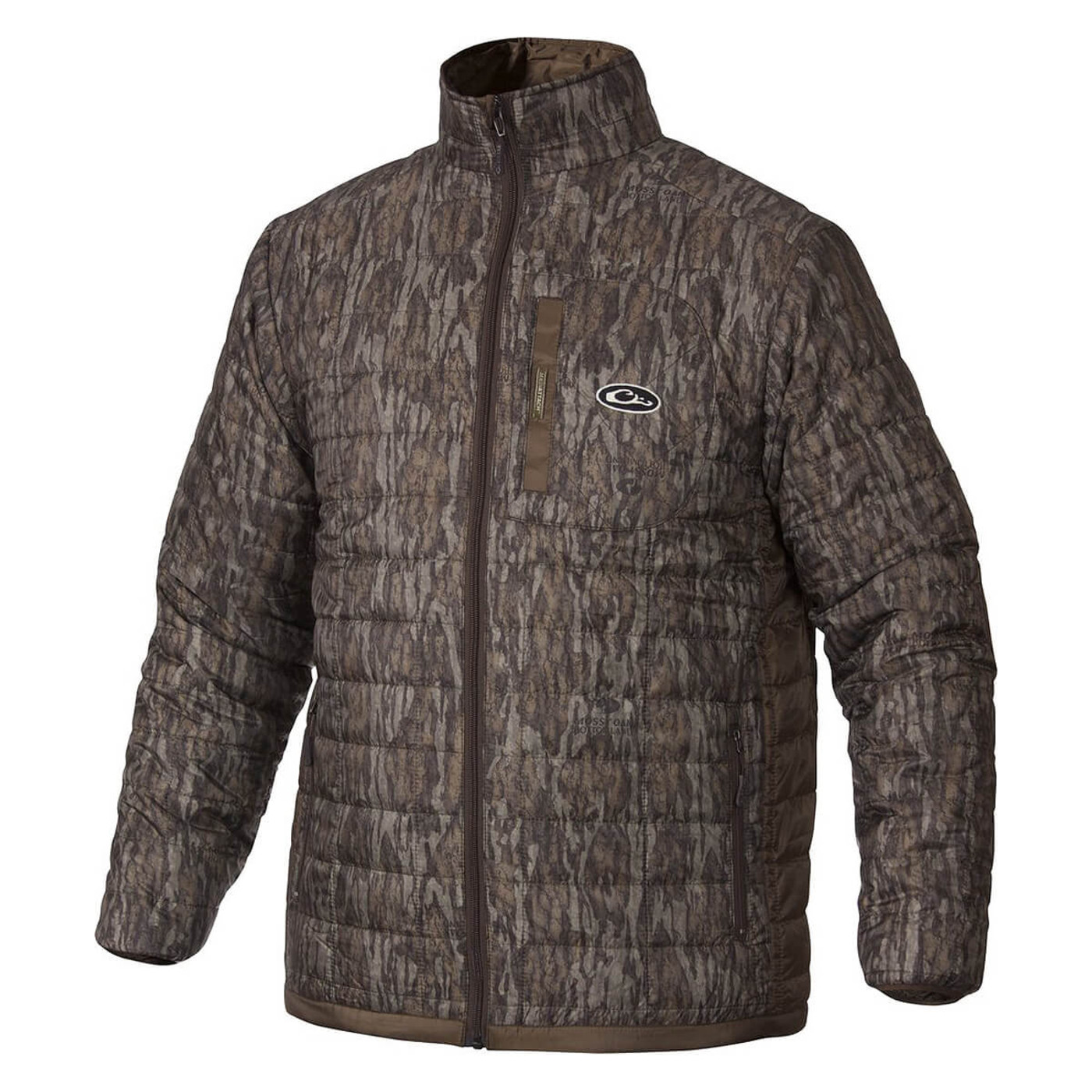 Drake MST Synthetic Down Packable 2-Tone Jacket in Mossy Oak Bottomland Color