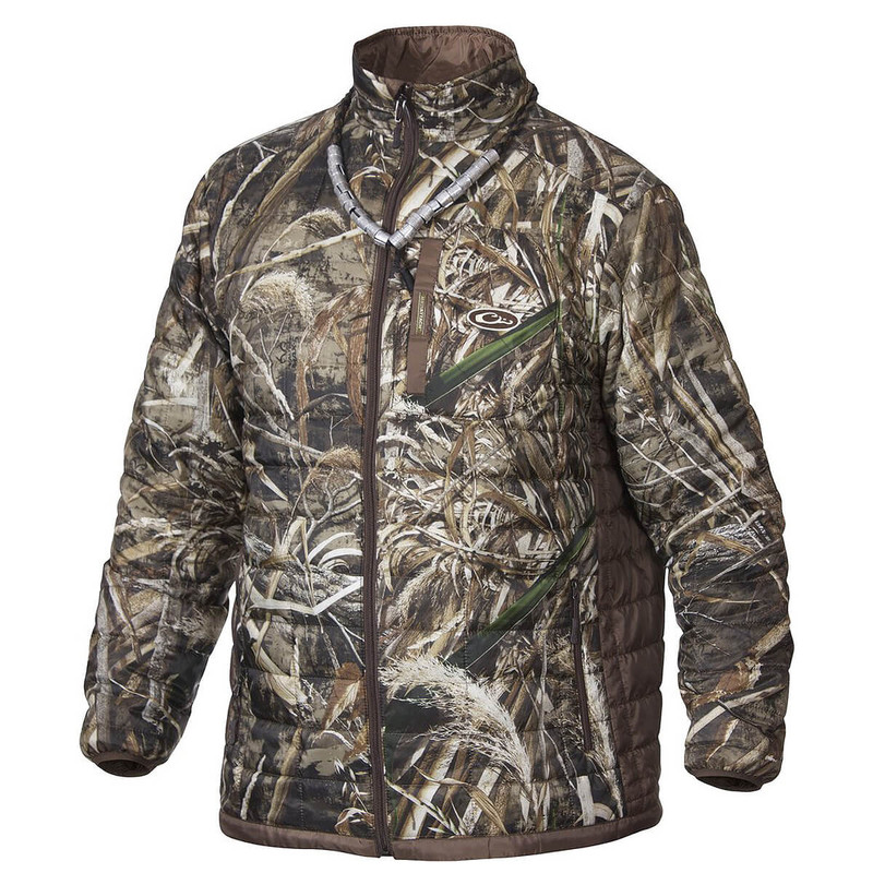 Drake MST Synthetic Down Packable 2-Tone Jacket in Realtree Max 5 Color