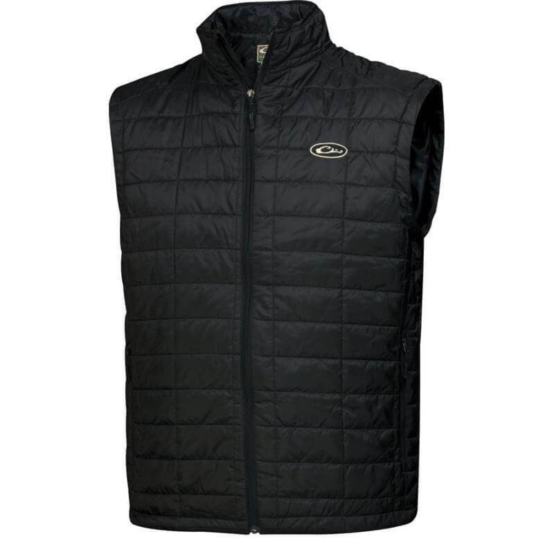 Drake MST Synthetic Down Packable Vest in Black Color