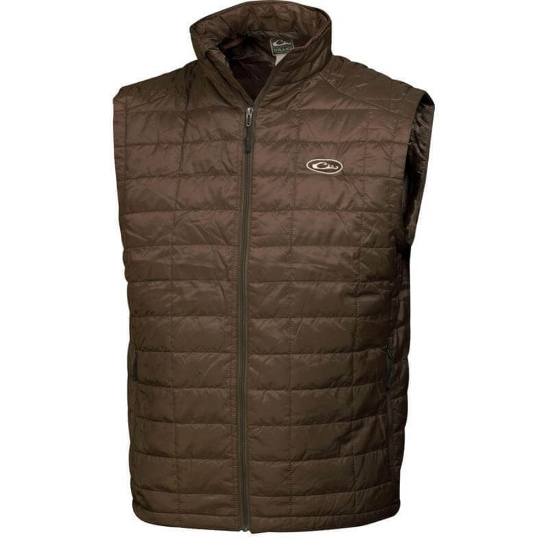 Drake MST Synthetic Down Packable Vest in Brown Color