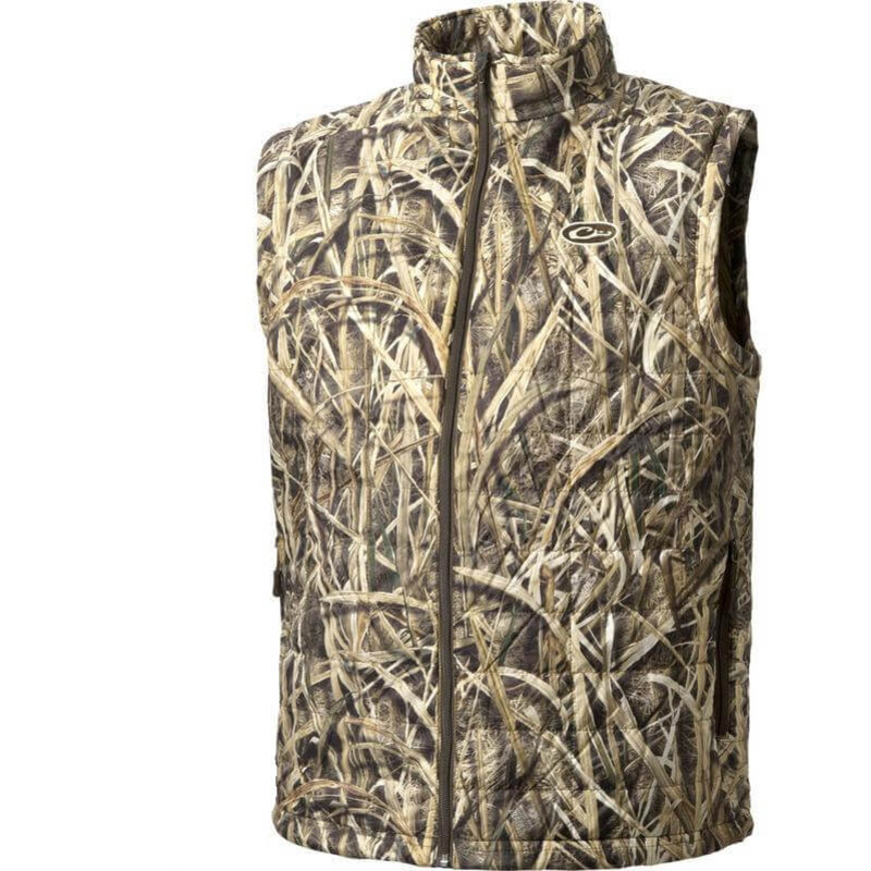 Drake MST Synthetic Down Packable Vest in Mossy Oak Shadow Grass Blades