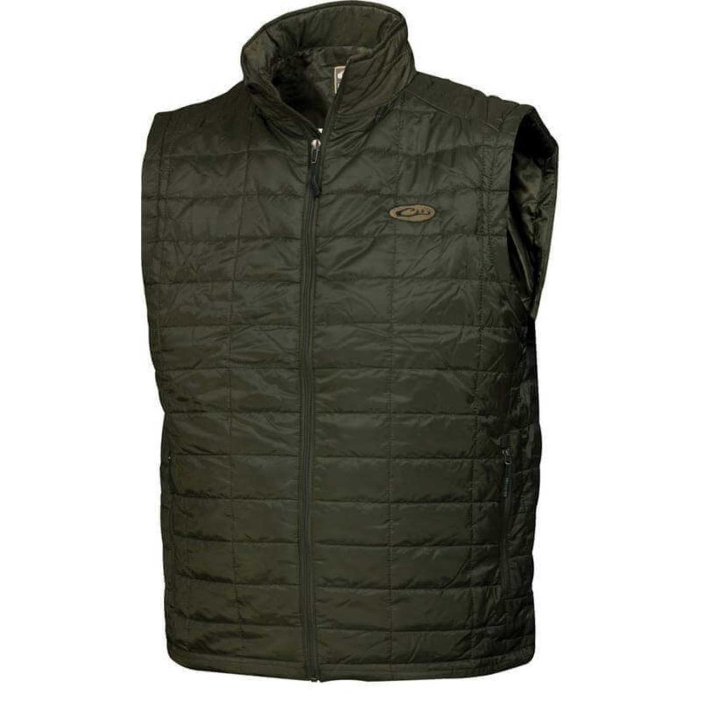 Drake MST Synthetic Down Packable Vest in Olive Color