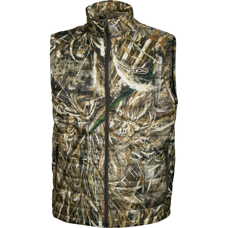 Drake MST Synthetic Down Packable Vest in Realtree Max 5