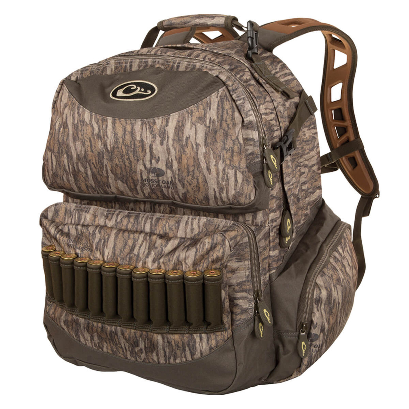 Drake Walk-In Backpack 2.0 in Mossy Oak Bottomland Color
