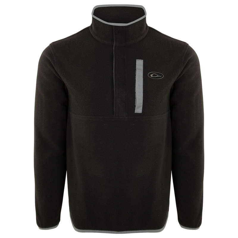 Drake Camp Fleece Pullover 2.0 in Black Charcoal Color