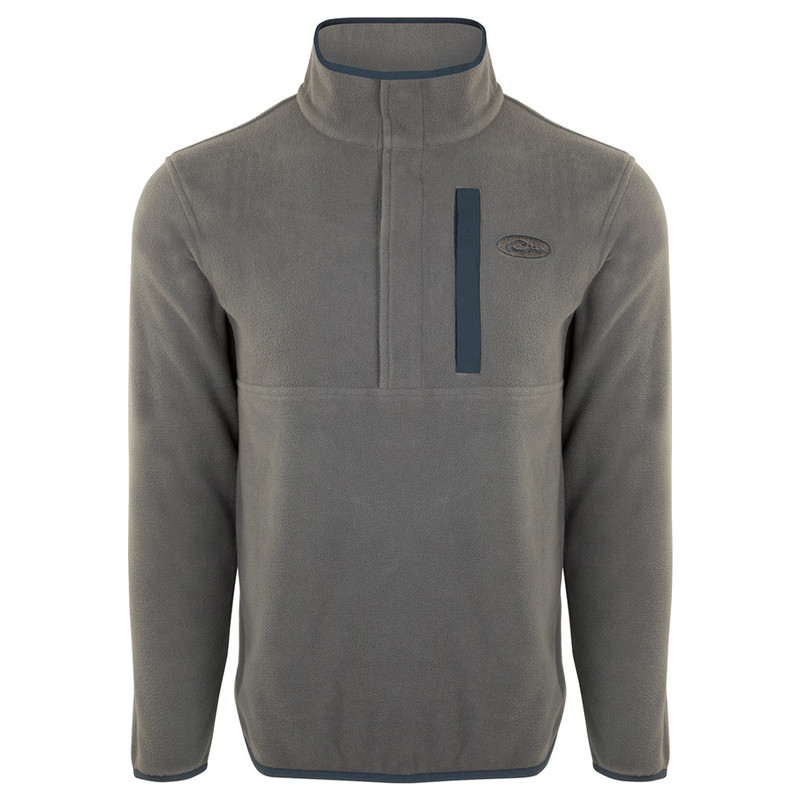 Drake Camp Fleece Pullover 2.0 in Charcoal Navy Color