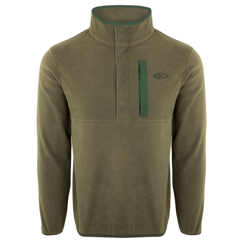 Drake Camp Fleece Pullover 2.0 in Olive Dark Green Color
