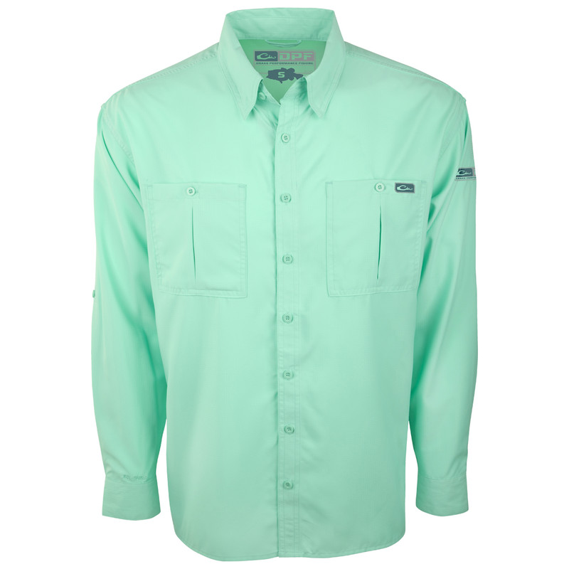Drake DPF Flyweight Long Sleeve Shirt in Cockatoo Color