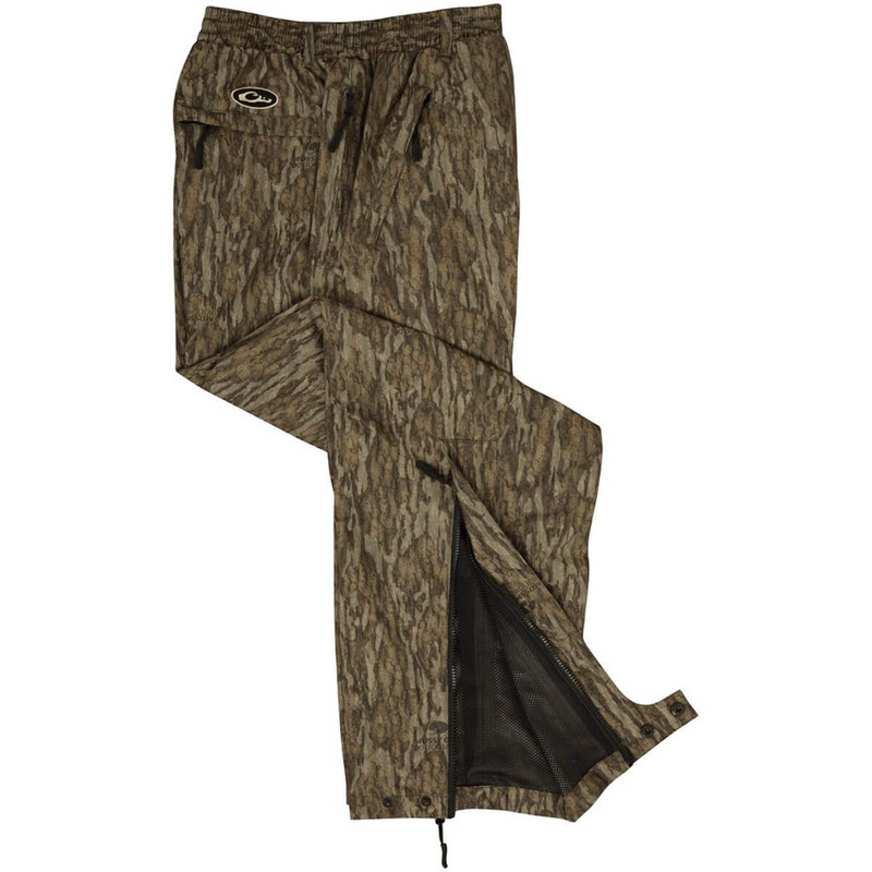 Drake Waterfowl EST Waterproof Hunting Over-Pants in Mossy Oak Bottomland Color