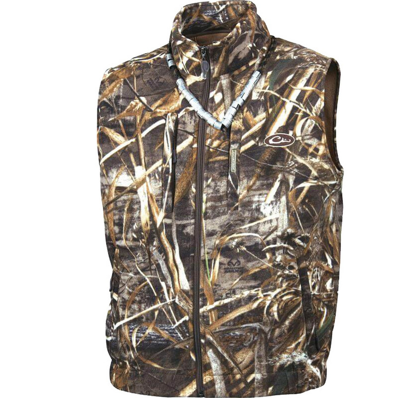 Drake MST Windproof Fleece Layering Vest in Realtree Max 5 Color