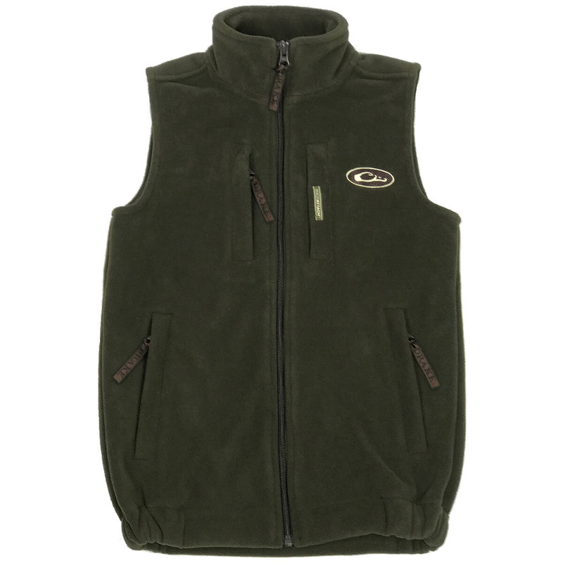 Drake Waterfowl Youth Layering Hunting Vest in Olive Color