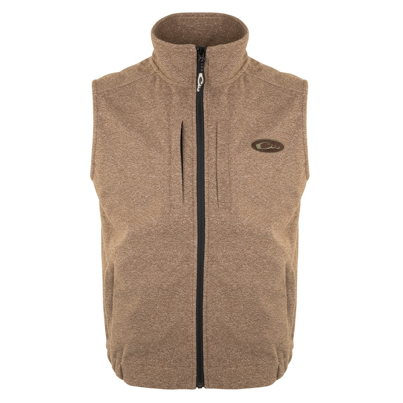 Drake Heather Windproof Layering Vest in Brown Heather Color