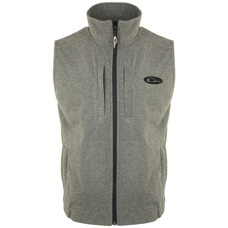 Drake Heather Windproof Layering Vest in Grey Heather Color