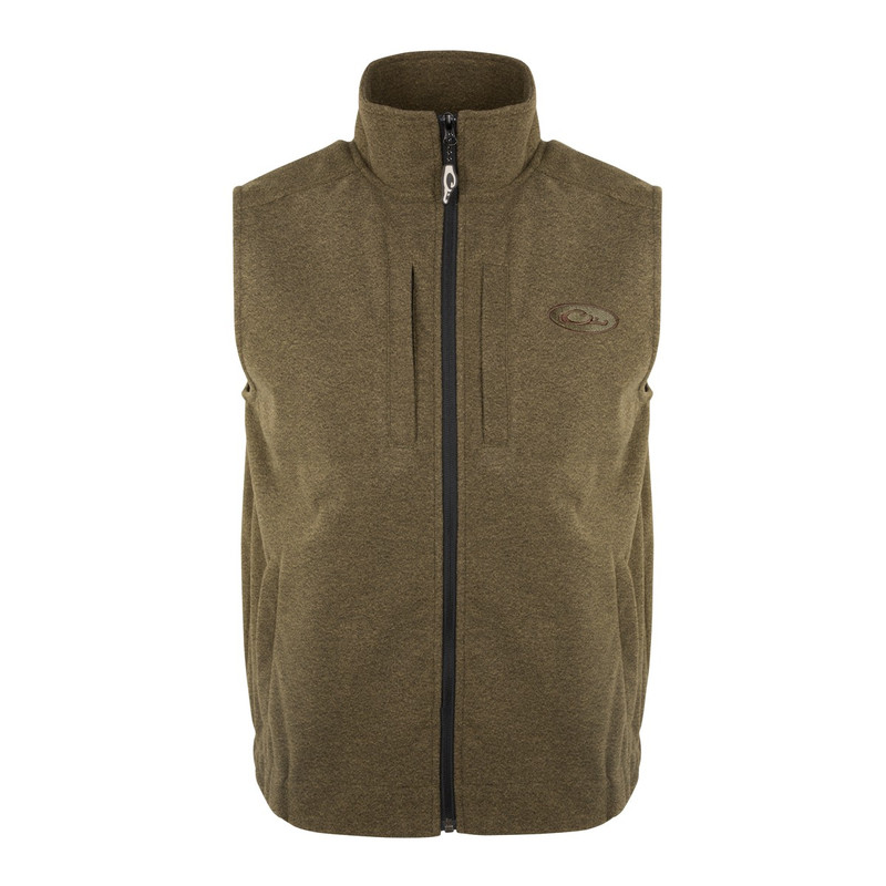 Drake Heather Windproof Layering Vest in Olive Heather Color