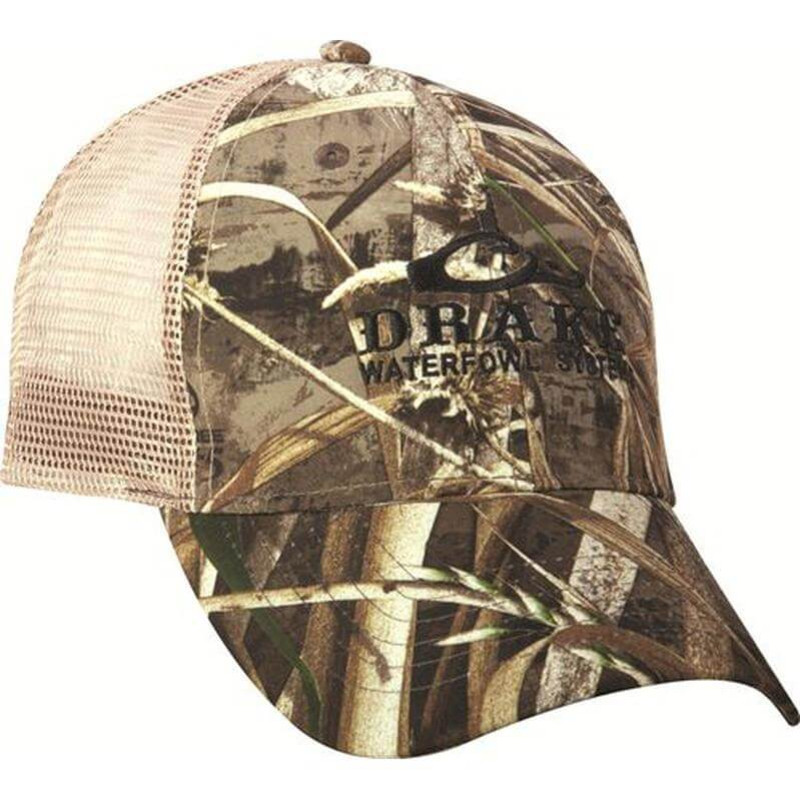 Drake Meshback Truckers Cap in Realtree Max 5 Color