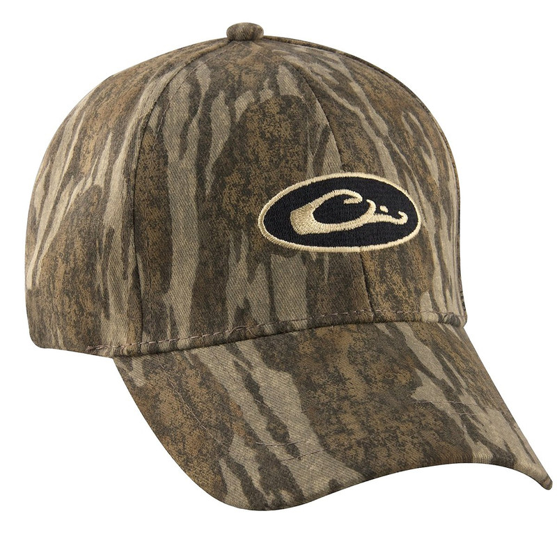 Drake Water Resistant Oval Logo Ball Cap in Mossy Oak Bottomland Color