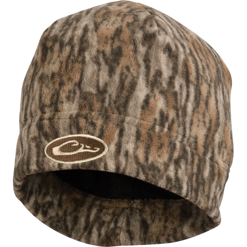 Drake Waterfowl Windproof Fleece Stocking Cap in Mossy Oak Bottomland Color