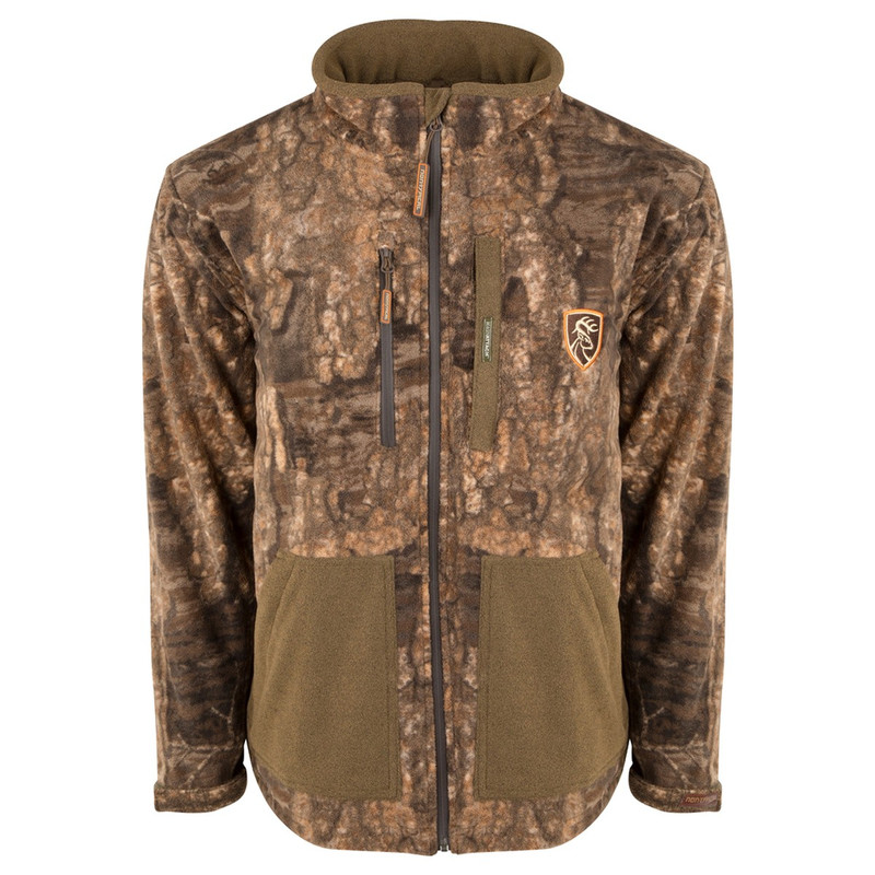Drake Scent Control Non-Typical Hydro-Hush Full Zip Jacket Agion Active XL in Realtree Timber Color