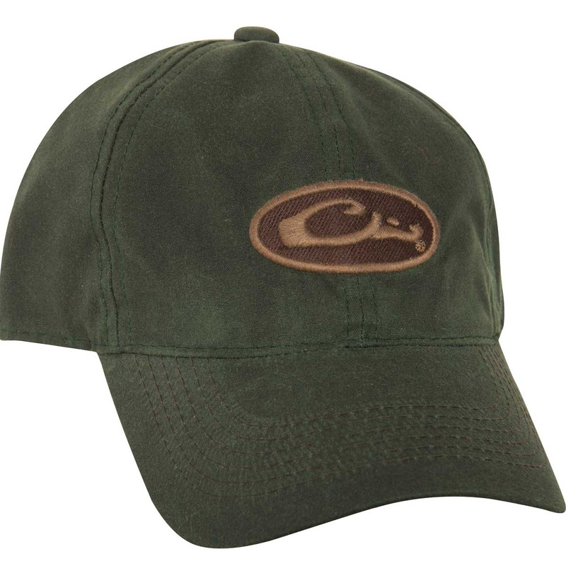 Drake 8oz Waxed Canvas Cap in Olive Color