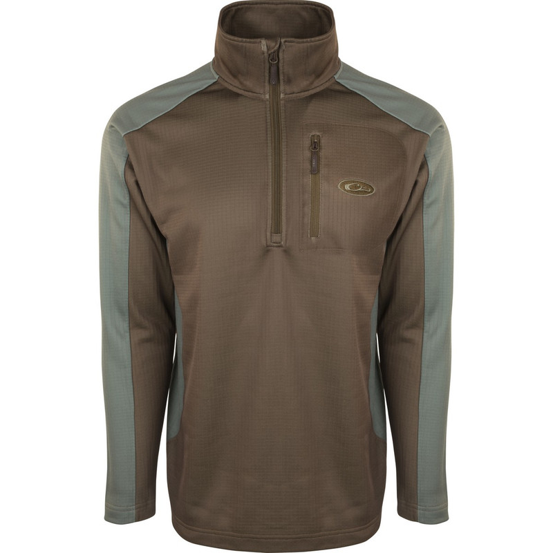 Drake BreathLite 2.0 Quarter Zip Pullover in Desert Palm Olive Night Color